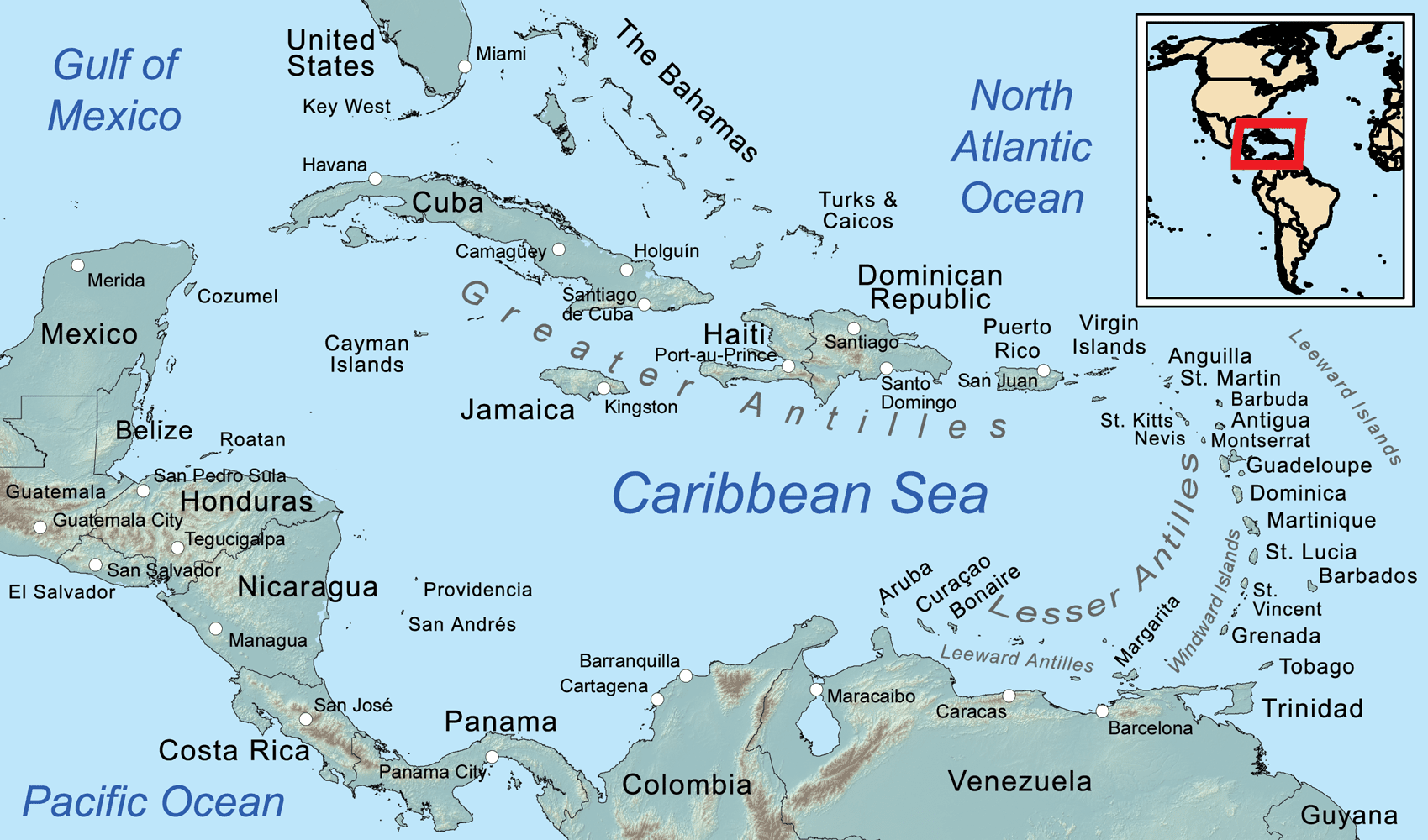 About Rotaract District 7020 Caribbean Map